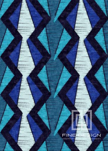 Blue ethnic rug Design 144