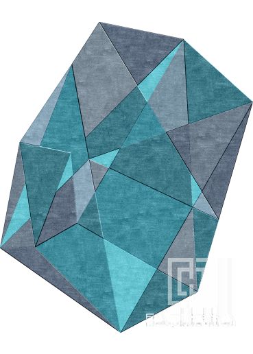 Geometric shaped modern rug Design 94