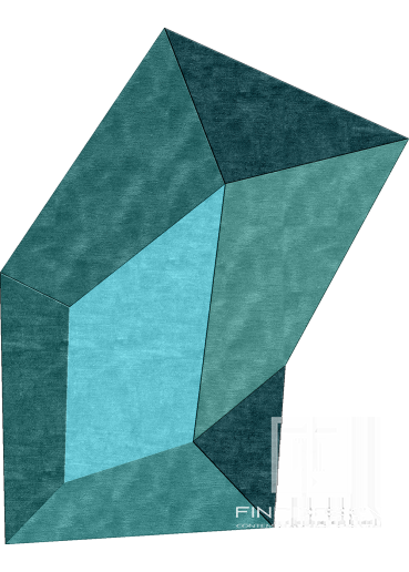 Geometric shaped modern rug Design 95