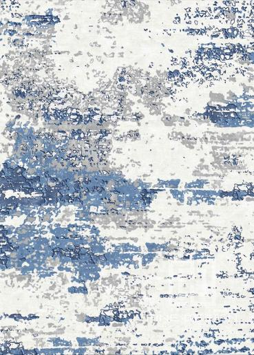 Grunge Blue and grey rug Design 121