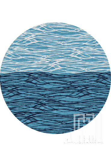 Waves modern rug Design 114